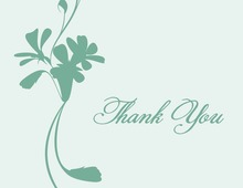 Silhouette Bouquet Rich Green Thank You Cards