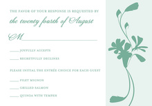 Touch Of Spring Subtle Bouquet RSVP Cards