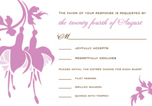 Importance Elegant Bulbs In White RSVP Cards