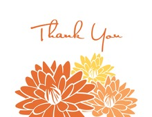 Blossoming Peach Spring Blooms Thank You Cards