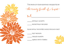 Sunny Event Peach Spring Blooms RSVP Cards