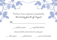 Grape Vine Slate Blue RSVP Cards