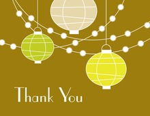Paper Lantern Glow Gold Thank You Cards