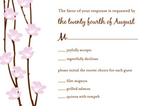 Trendy Floral String RSVP Cards