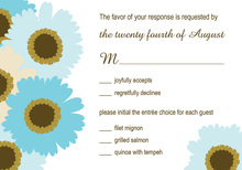 Timeless Blue Floral In White RSVP Cards