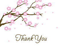 Billowy Blossoms Thank You Cards