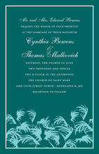 Unique Palms Aqua Green Beach Invitations