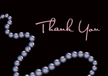 String Of Pearls Thank You Cards