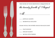 Special Cutlery Stand Apart RSVP Cards