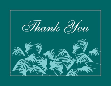 Swaying Palms Lime Thank You Cards