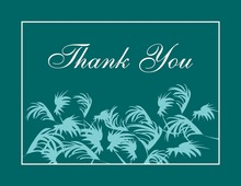 Silhouette Swaying Palms White Border Thank You Cards