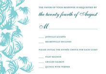 Summer Breeze Swaying Palms RSVP Cards