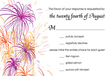 Responding With More Fireworks RSVP Cards