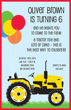 Farm Tractor Invitation