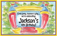 Bouncy Castle Kids Birthday Invitations