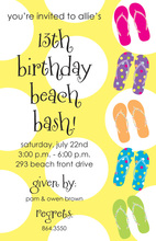 Fun Flip Flops Beach Party Invitations