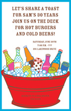 Summer Party Cool Suds Picnic Invitations