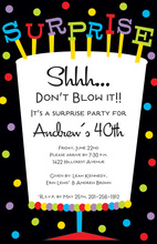 Multi-Colored Big Surprise Party Invitations