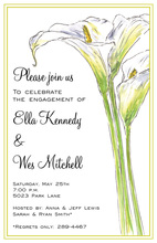 Traditional White Calla Lilies Invitation