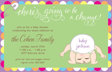 Baby Diaper Change Invitations