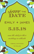 Chic Neat Floral Design Invitation