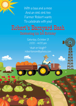 Farmer Brown Kids Invitation