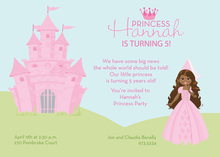 African American Princess Castle Invitations