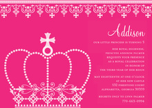Princess Crown Pink Invitations