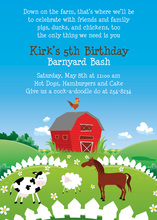 Traditional Barnyard Animals Invitations