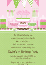 Birthday Candy Buffet Pink Invitations