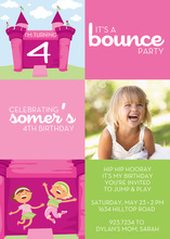 Bounce House Pink Photo Cards