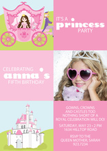 Fun Princess Carriage Photo Cards