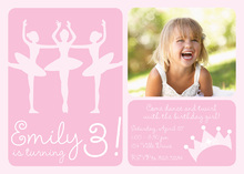 Pink Ballet Dancer Photo Cards