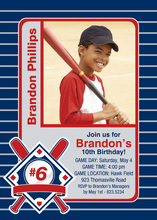 Baseball Hobby Cards Photo Birthday Party Invitations