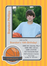 Basketball Hobby Cards Photo Birthday Invitations