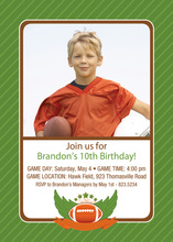 Traditional Football Champion Photo Invitations