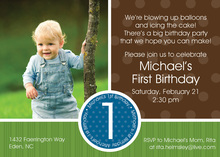 Brown Green Photo Birthday Party Invitations