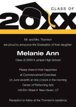 Black Special Class Graduation Year Announcements