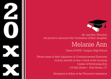 Special Class Red Black Band Graduation Invitations