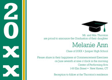 Modern Green Band Special Graduation Invitations