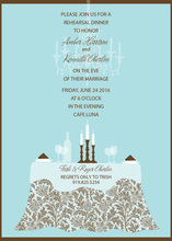 Vintage Chocolate Table Invitations