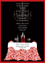 Formal Black Red Invitations