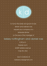 Bali Blue Monogram Brown Invitations