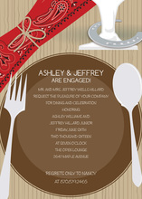 Western Place Setting Invitations