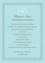 Antique Blue Border Formal Invitations