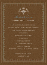 Antique Brown Border Formal Invitations