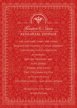 Antique Red Border Formal Invitations