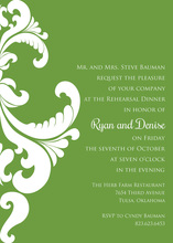 Olive Damask Green Invitations