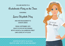Casual Readhead Bachelorette Invitations