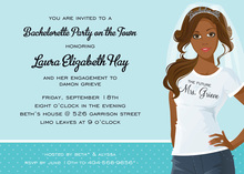 T-Shirt African American Bridal Shower Invitations